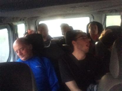 Crisp staff sleeping on drive