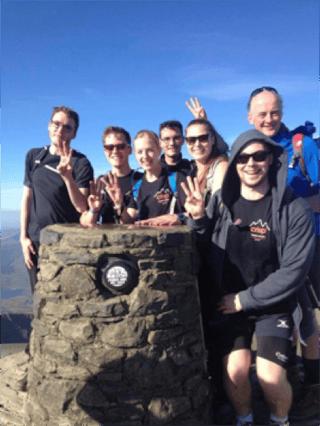 Crisp staff at Snowdon summit