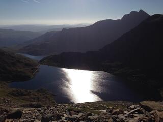 View of lake from scafell pike