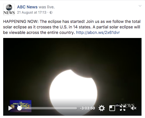 ABC News' live video of the eclipse
