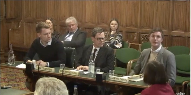 Adam Hildreth Select Committee for fake news
