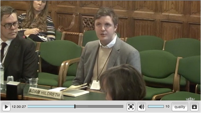 Video of Adam Hildreth Select Committee on fake news