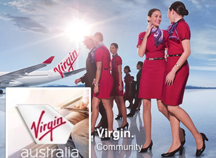 Virgin Air staff and plane