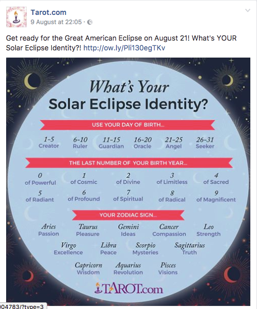 Tarot.com's guide to finding your 'solar eclipse identity'